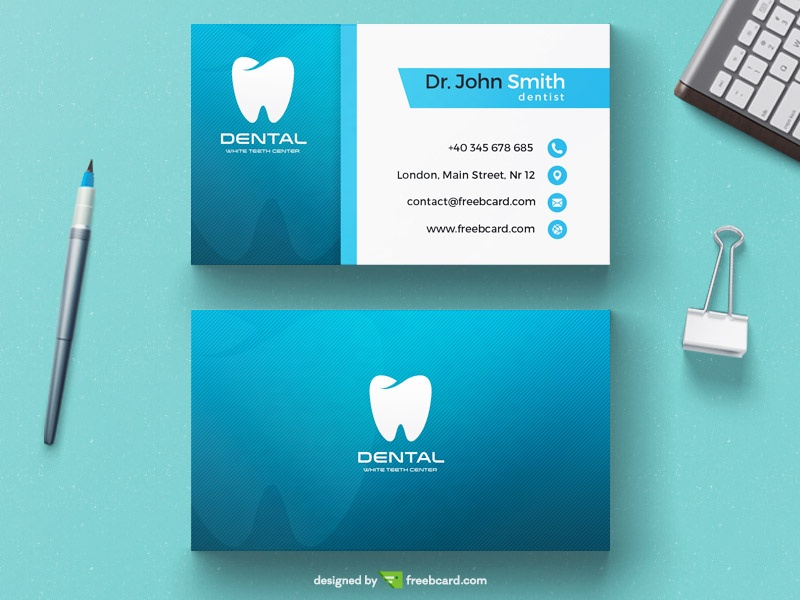 Free dentist business card template download psddaddy free dentist business card template download wajeb Images