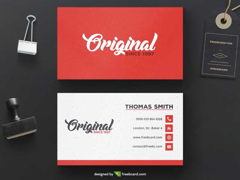 Free Red Business Card Template Psddaddy