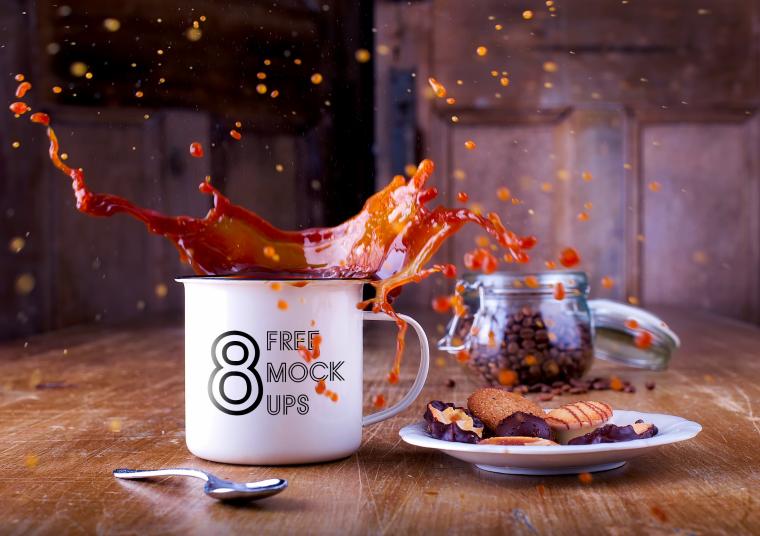 8 Free Cup Mockups