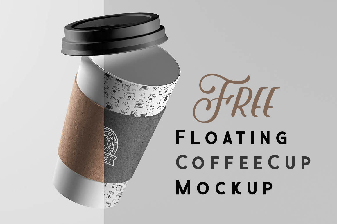Here is Floating Coffee Cup Mock-up Download