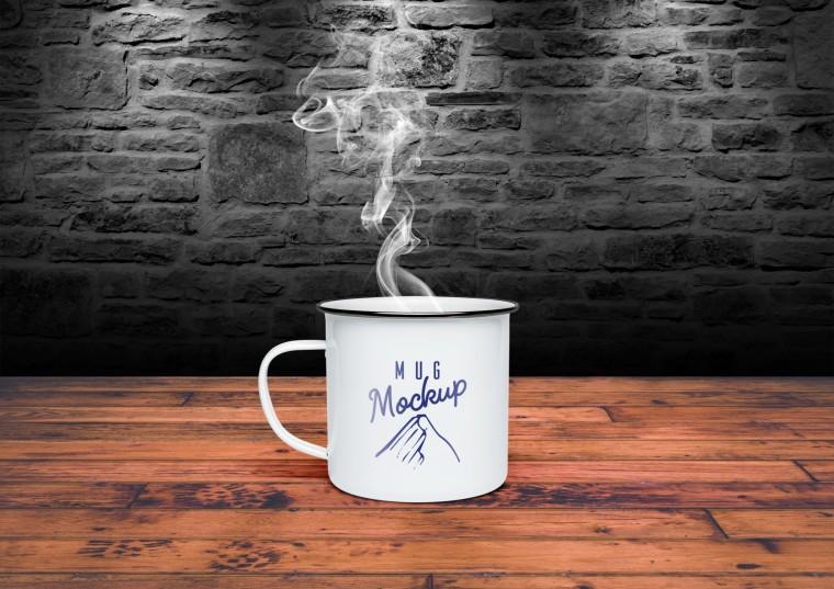 Tin Mug Free Mockup