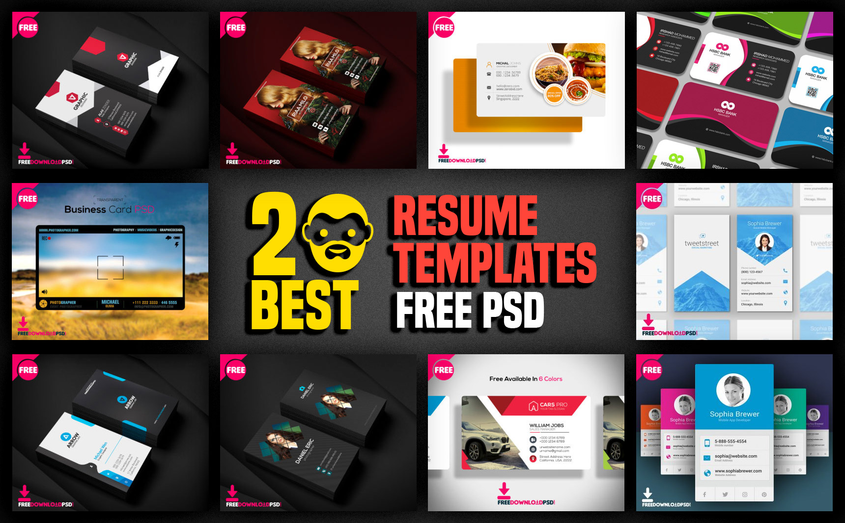 Best Resume Templates Free PSD PsdDaddycom - Cool resume templates free download