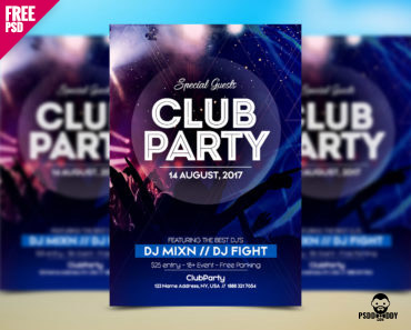 Free PSD Flyer Template For Club Party – PsdDaddy.com