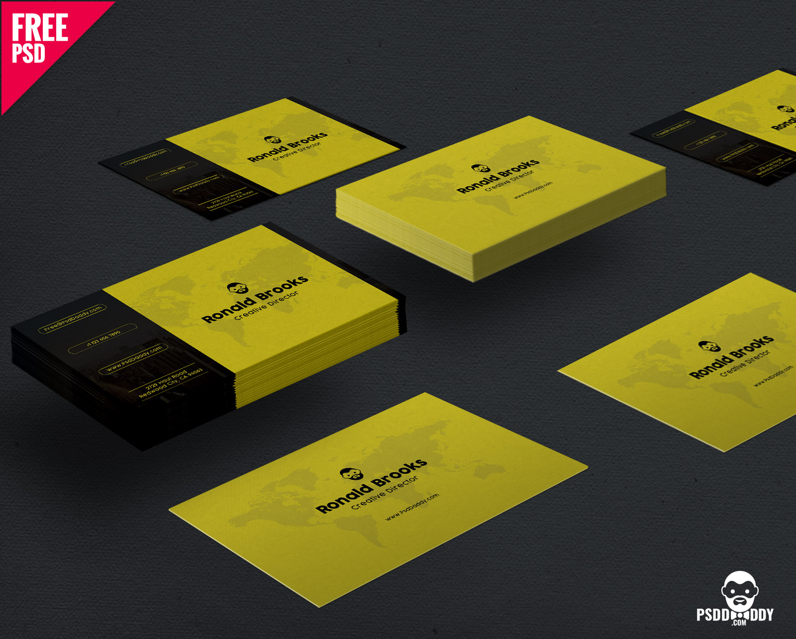 Download] Visiting Card Template Free PSD | PsdDaddy.com