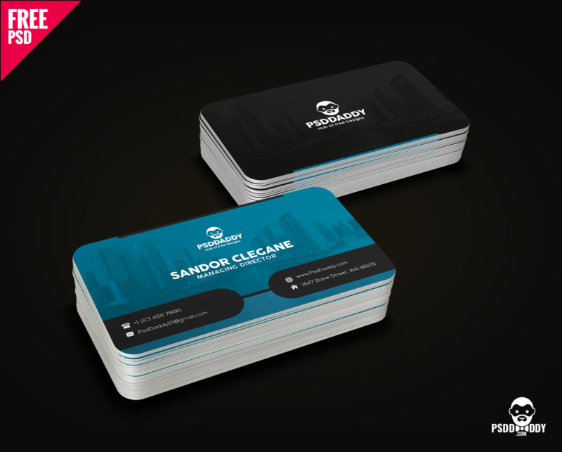 Download corporate business card free psd psddaddy business card design business card design templates business card dimensions business card holder flashek Images