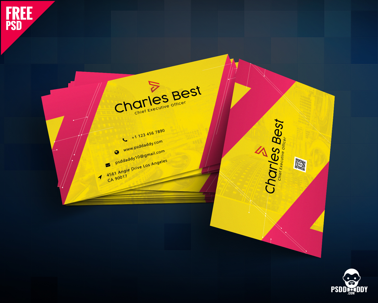 Download Creative Business Card Free PSD PsdDaddycom - Graphic design business card templates