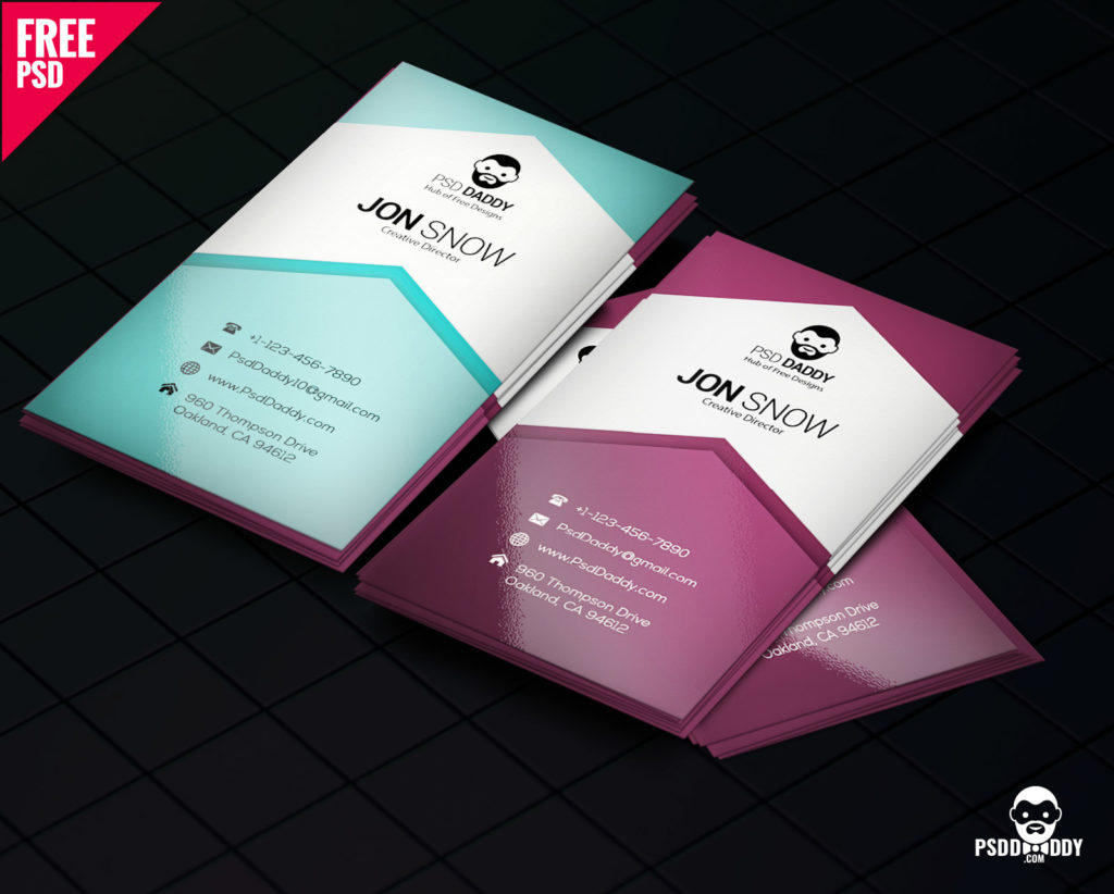 download creative business card psd free