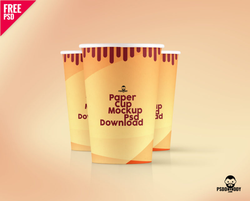 Paper Cup Mockup Psd Download