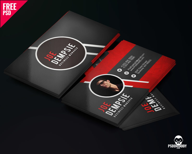 100 free business card psd templates creative business card psd template cheaphphosting Image collections