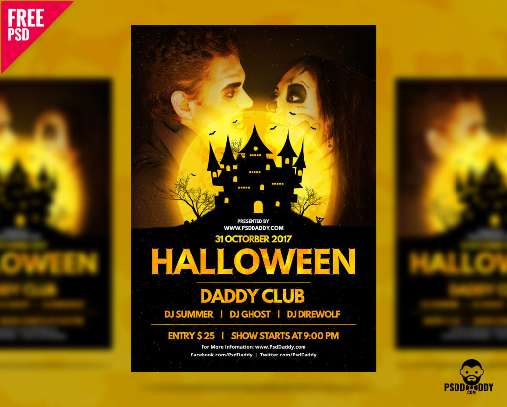 Halloween PSD Flyer Template