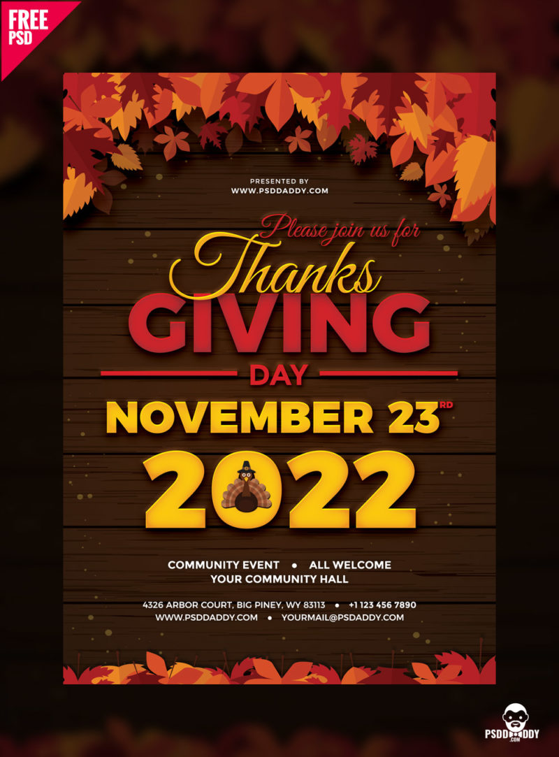 download  thanksgiving flyer free psd