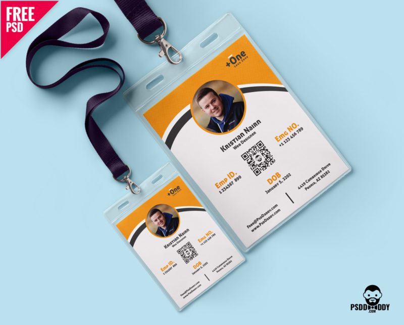 multipurpose photo identity card template psd  u2013 psddaddy com