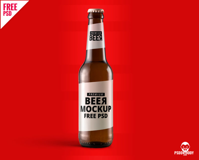 download  beer bottle mockup free psd