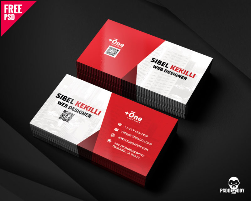 download  free corporate business card psd