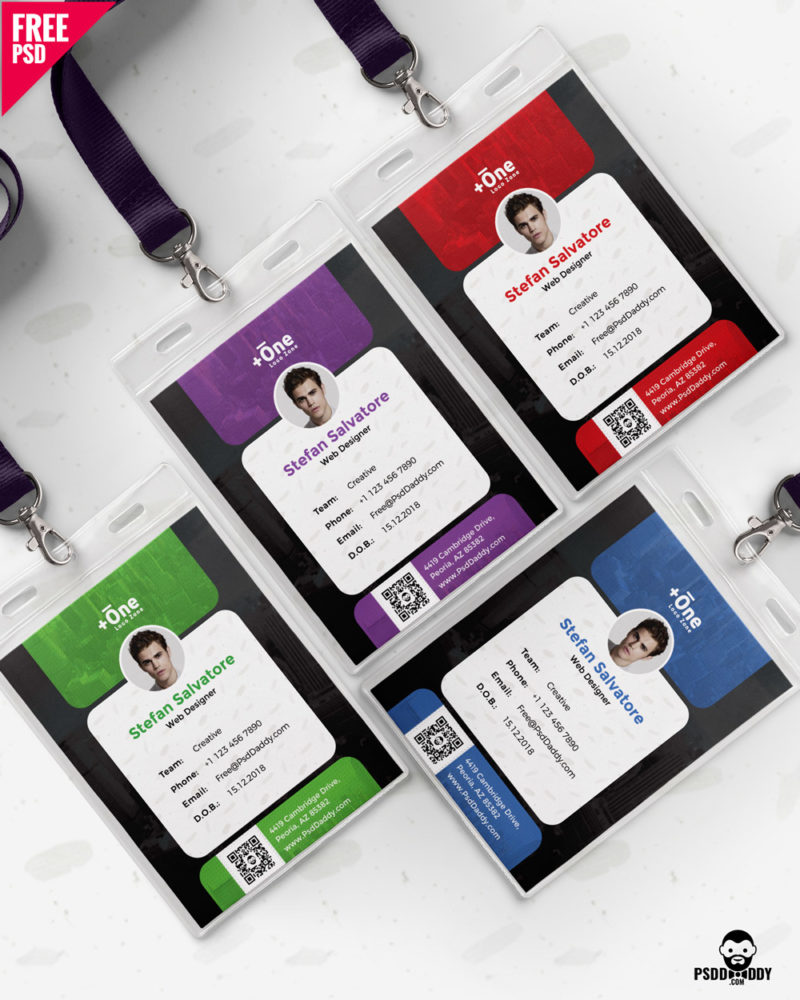 free  office identity card design psd