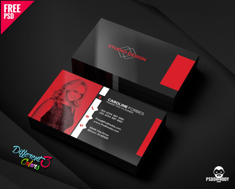 Free business cards templates psd bundle psddaddy business card design business card design templates business card dimensions business card holder reheart