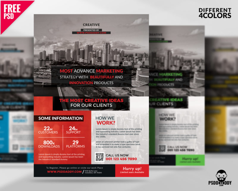 Free Multipurpose Corporate Flyer Free Psd Psddaddy