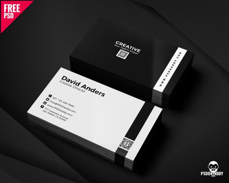 download simple business cards psd. Black Bedroom Furniture Sets. Home Design Ideas