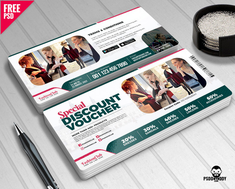 download special discount voucher free psd psddaddy com