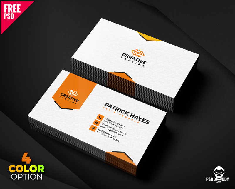 Business card design free psd set psddaddy business card design business card design templates business card dimensions business card holder friedricerecipe Images