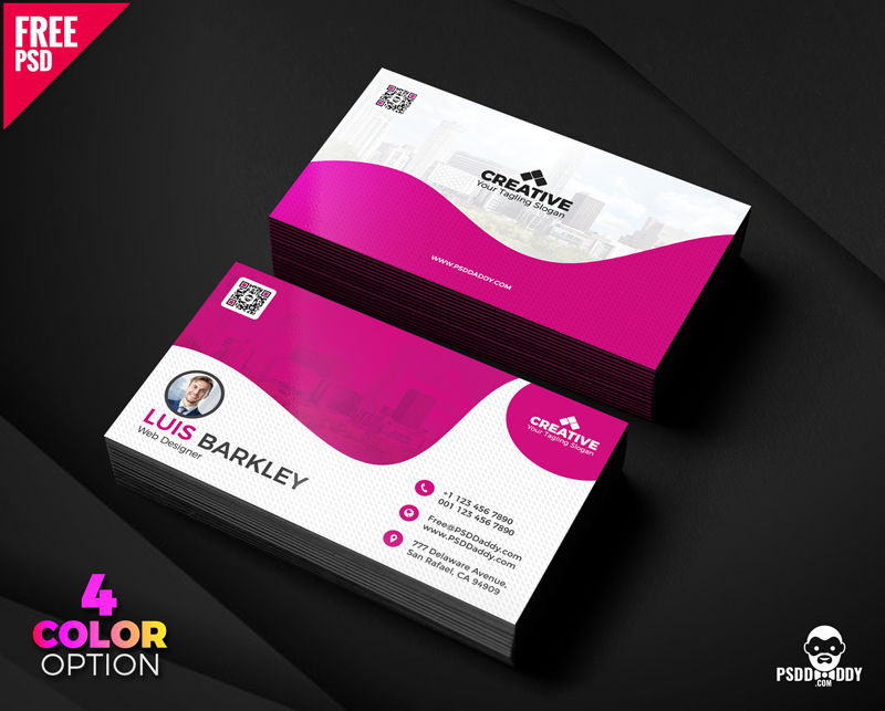 Business Card Design Free Templates Set