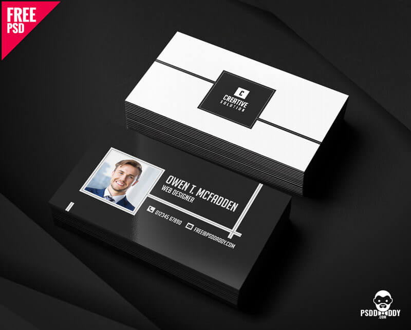 Business name card free psd psddaddy business card design business card design templates business card dimensions business card holder wajeb Image collections