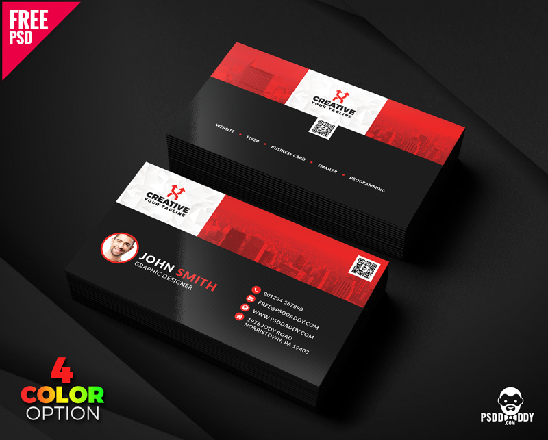Clean Business Card Templates PSD Bundle