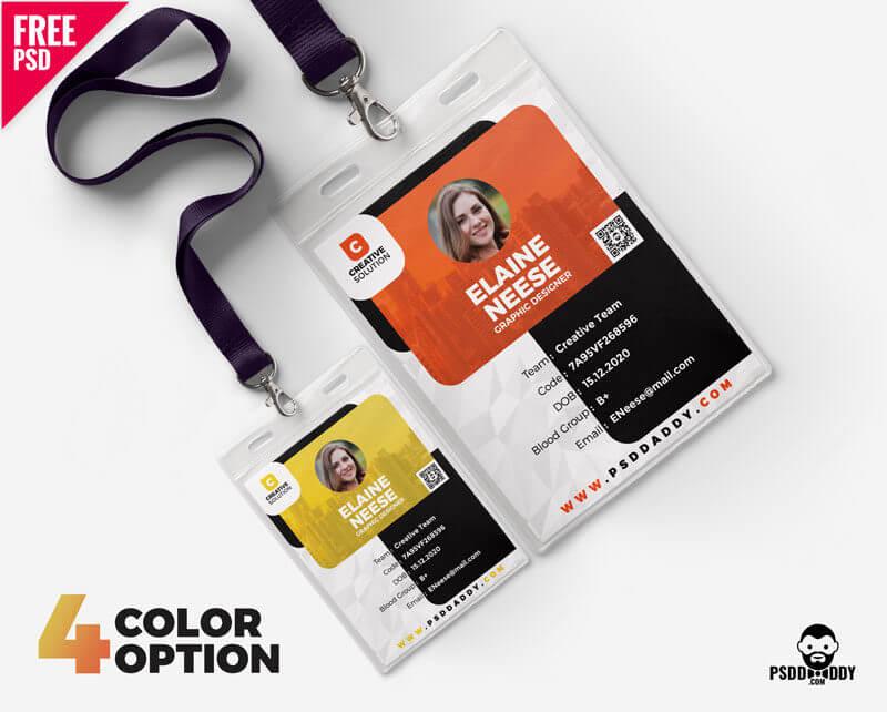 creative identity card design free psd bundle psddaddy com