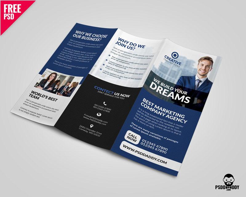 Professional Corporate Tri Fold Brochure Psd Psddaddy