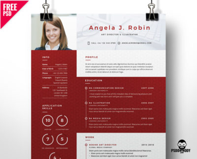download clean and designer resume psd psddaddy com