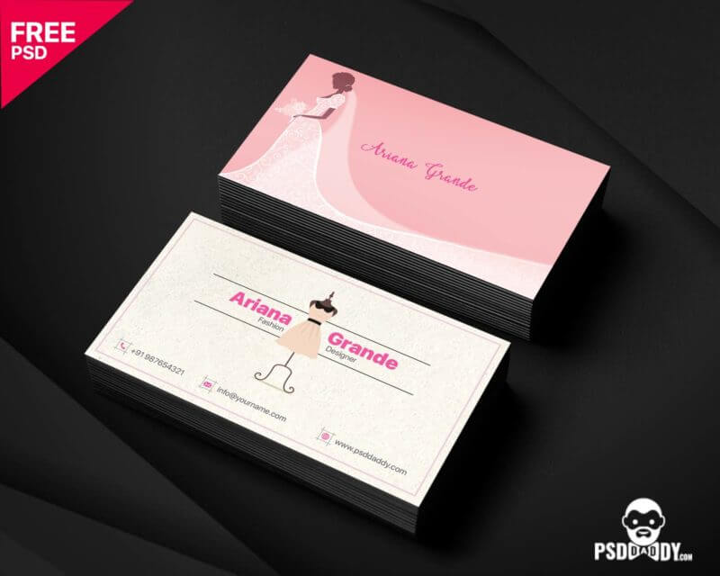 Fashion Designer Business Card Free Psd Psddaddy