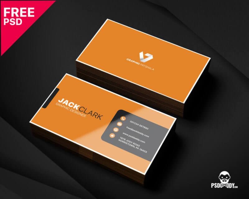 corporate business card psd design