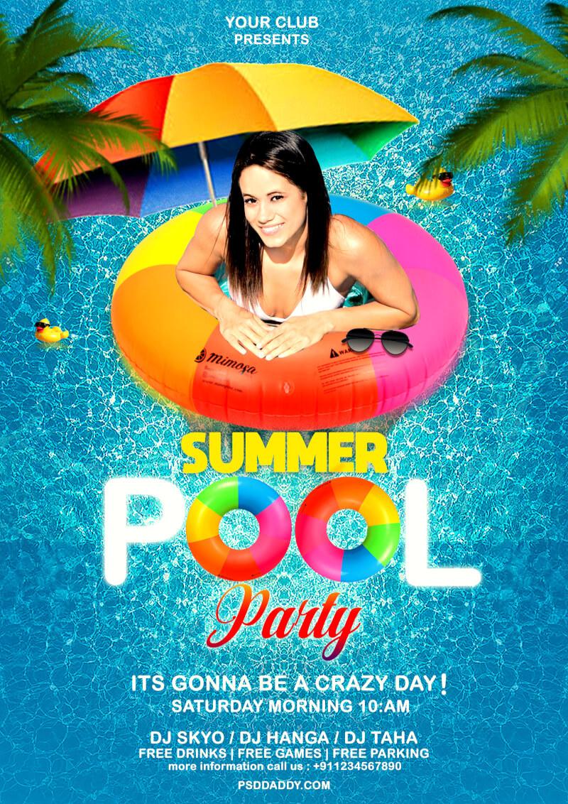 pool party flyer psd pool party flyer psd template | psddaddy