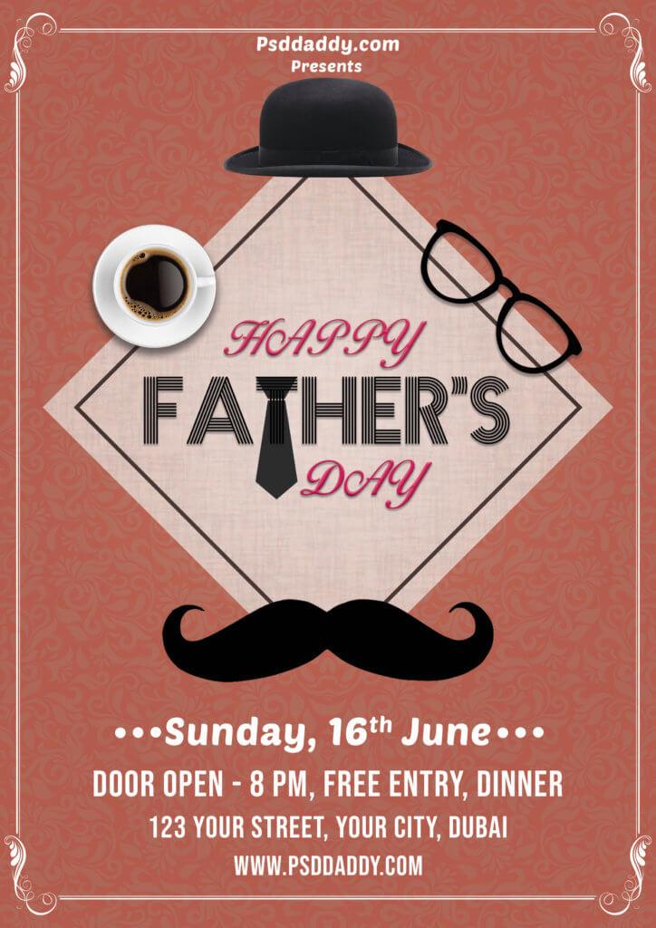 dad,father,father's day,father's day flyer,father's day psd,social media post,father's day social media post.flyer